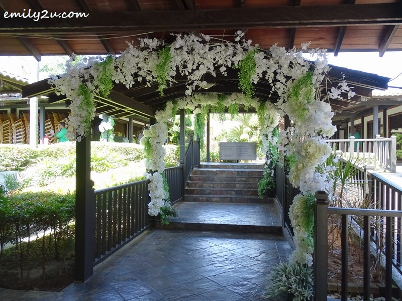 3. floral arch in preparation for a wedding to be hosted here