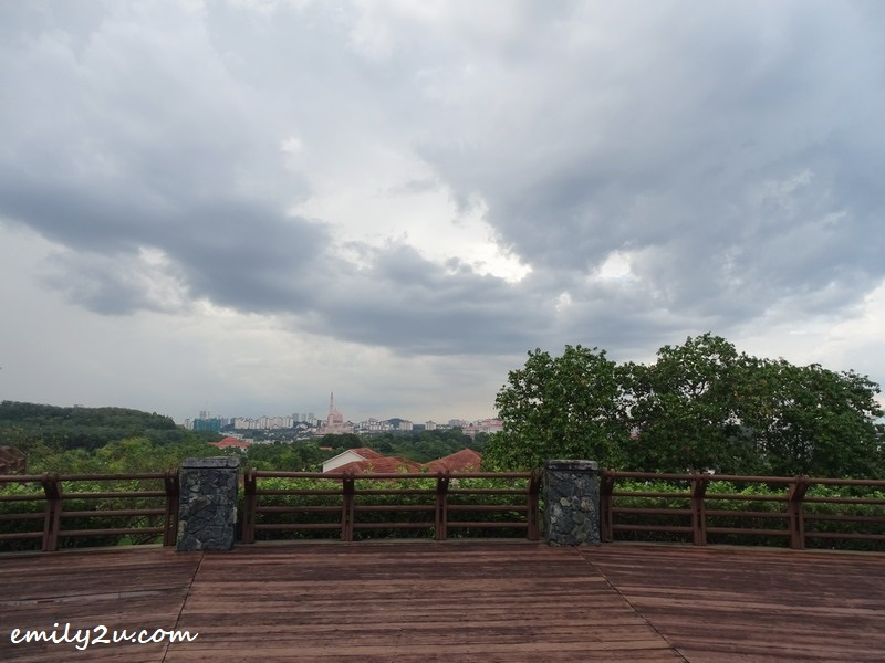 8. viewing deck looks out to Putrajaya's skyline