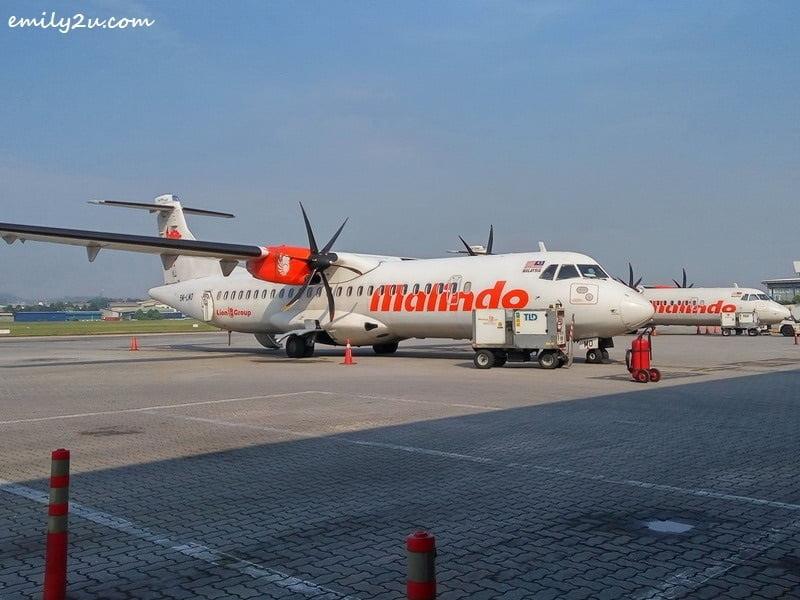 Malindo Air Malaysia aircraft at Subang SkyPark Terminal (Subang Airport)