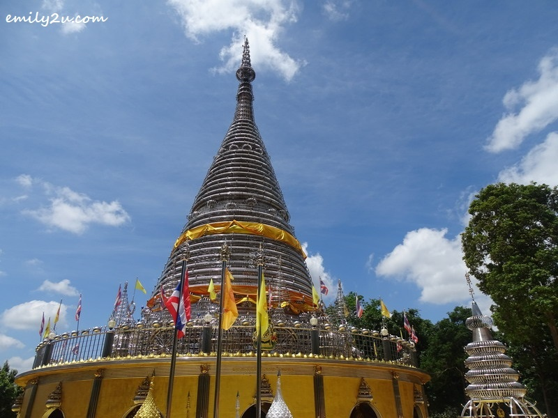 11. close-up shot of the  pagoda