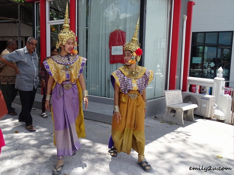 20. Thai girls in costumes ready for performance