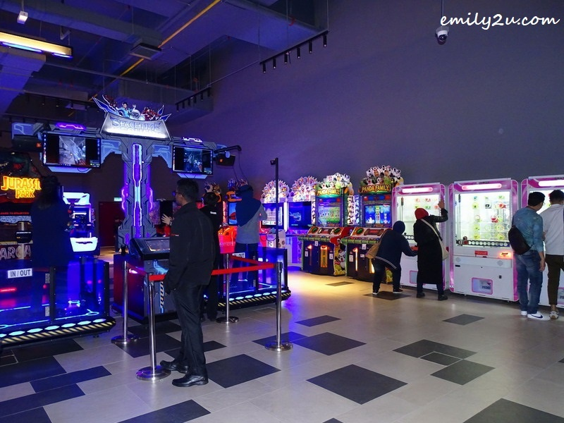 3. different arcade games to cater to visitors with varied interests