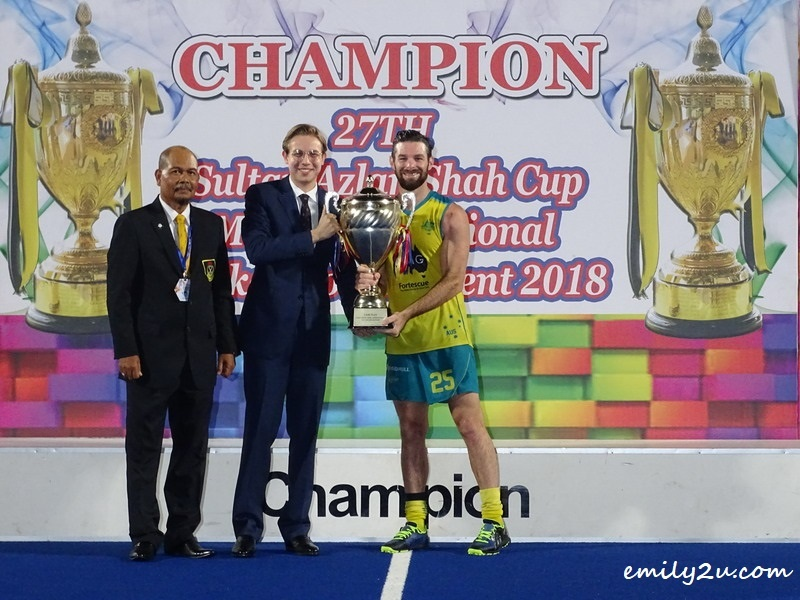 4. Fair Play (Piala Raja Ashman Shah) - Australia, received on behalf by striker Trent Mitton