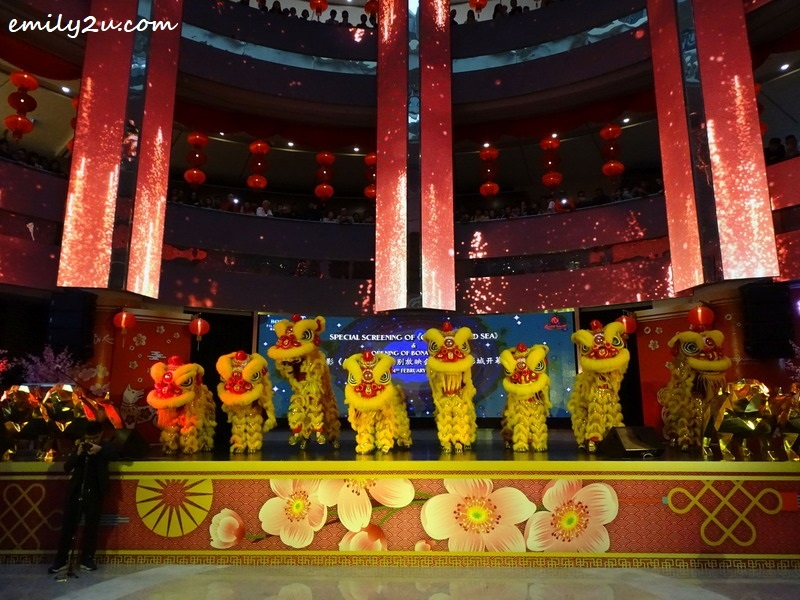 6. lion dance performance by 8 lions to signify prosperity