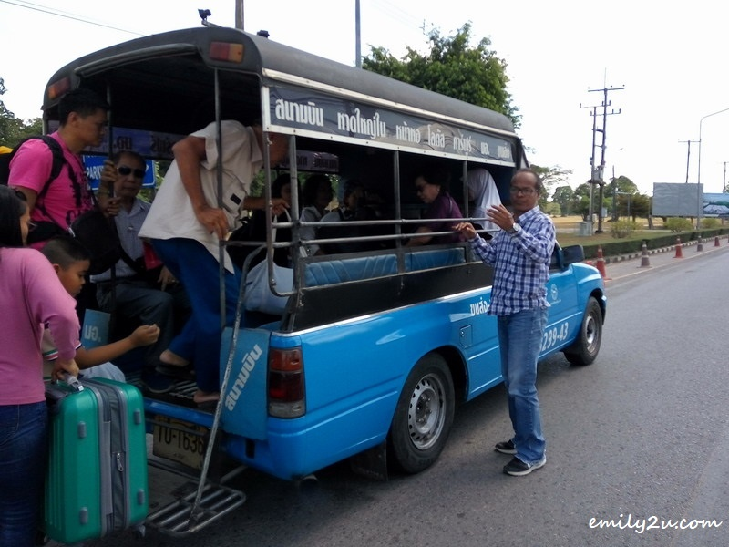 songthaew - pick up trucks used as public transport in Thailand