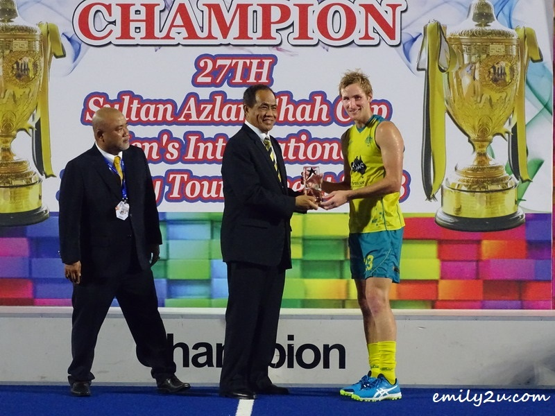 8. Player of the Tournament - Daniel Beale (Australia)