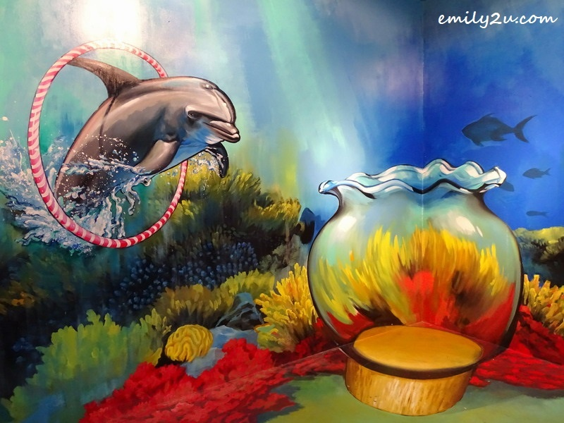 9. dolphin and fishbowl