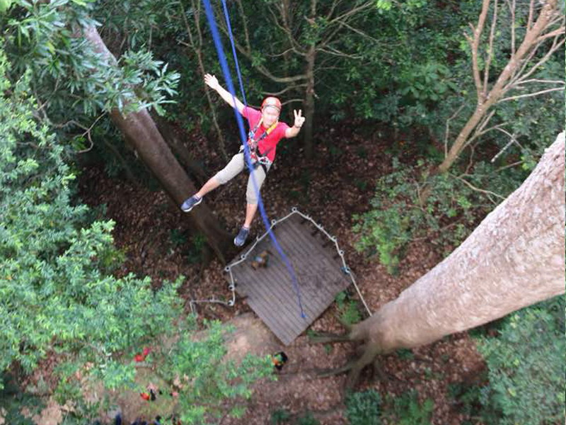 10. the treetop adventure ends with the Great Abseil (photo credit: Angeline Ong)