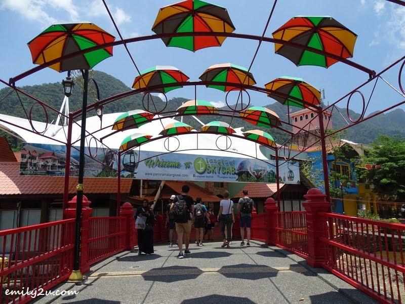 2. umbrella-decorated bridge