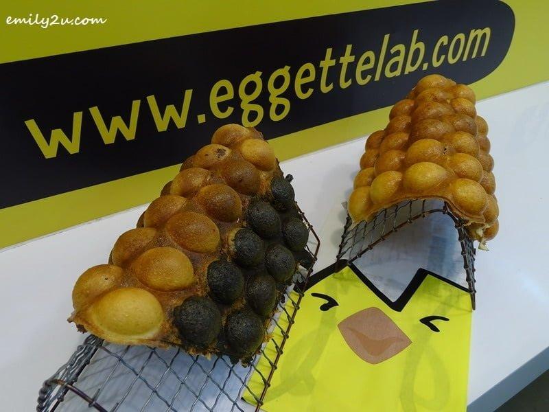 5. Tricolor (L) & Golden Custard (R) @ Eggette Lab, First World Plaza