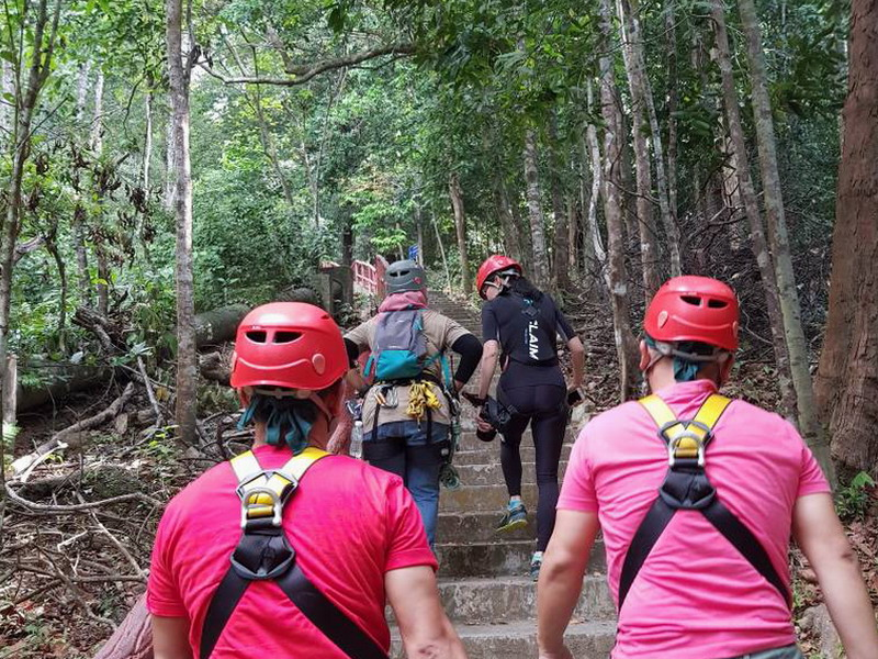 5. a short trek to the starting point (photo credit: Miera Nadhirah)