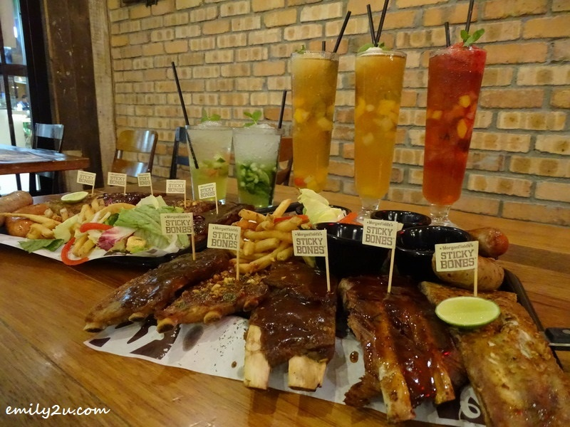 7. Mini Platter Ribs with Five Sauces (L-R): Black pepper, Garlic, BBQ, Asian & Rib Rub (Original) @ Morganfield's, SkyAvenue