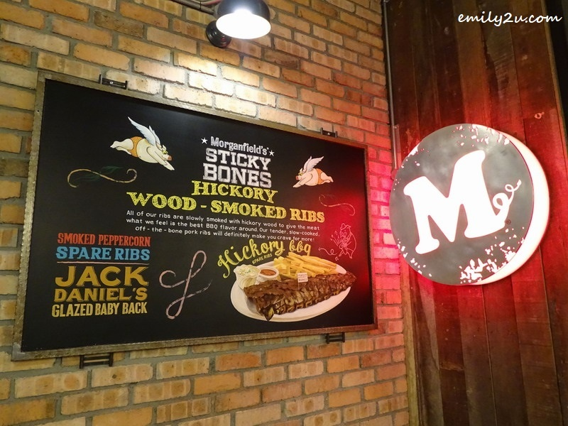 8. note Morganfield's logo with a curly pig's tail