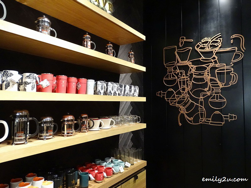 8. merchandise for sale at Starbucks Reserve®, SkyAvenue