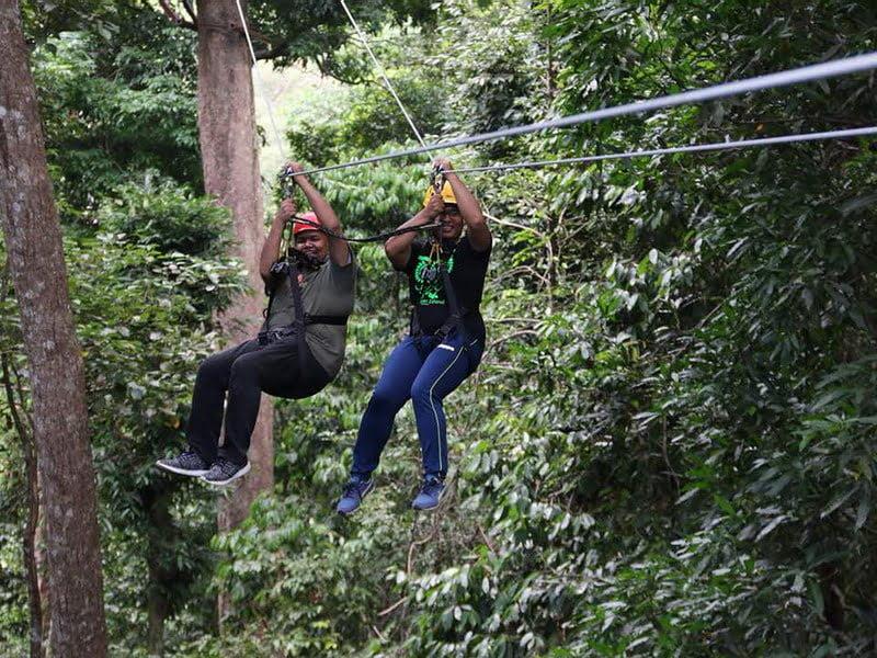 9. honeymoon double-zipline