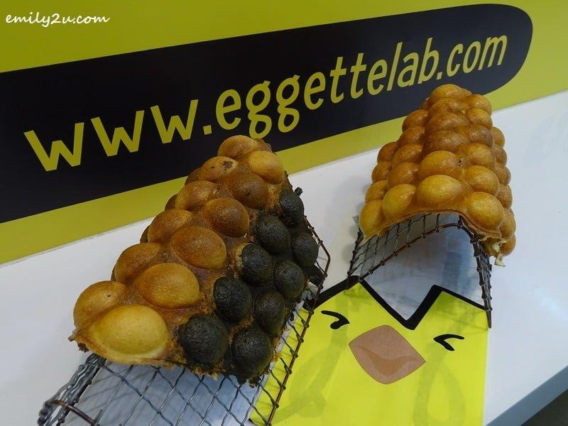 Tricolor (L) & Golden Custard (R) @ Eggette Lab, First World Plaza