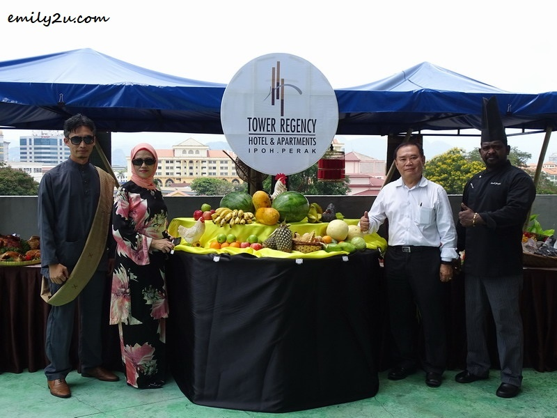 L-R: Assistant Sales Manager Meor Suhaniz, Hotel Manager Mdm. Mariana Hamid, Hotel Managing Director Mr. Simon Leong & Executive Chef Dorett Joseph