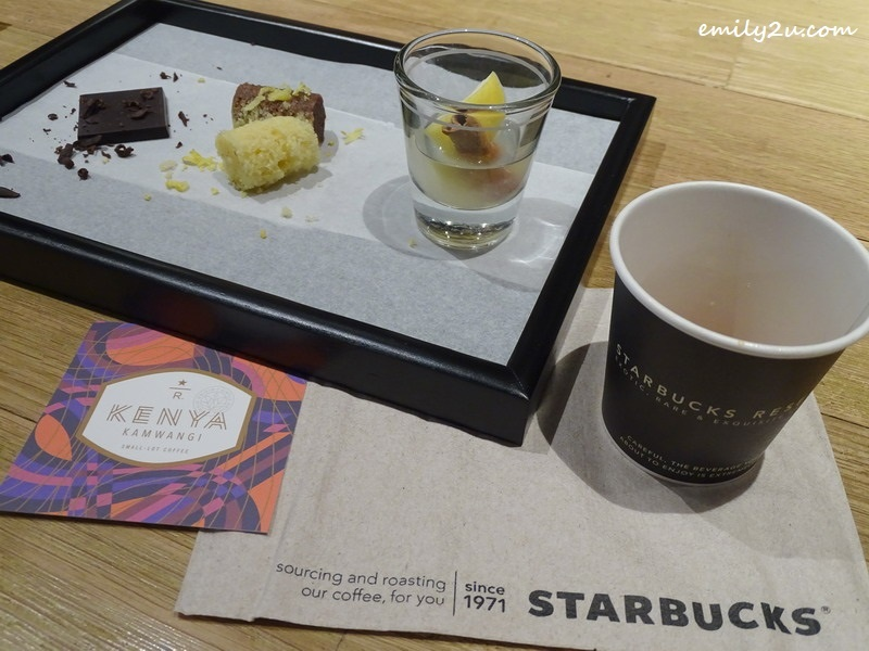 coffee tasting experience @ Starbucks Reserve, SkyAvenue