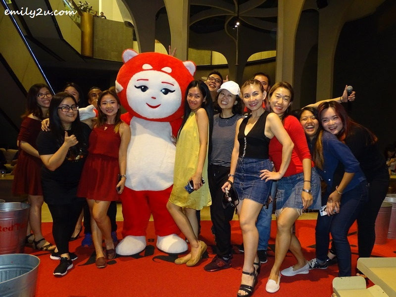 10. group photo with RedTail mascot, Xiao Hong, the Red Panda