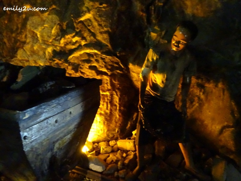 12. replica of an underground coal mine scene