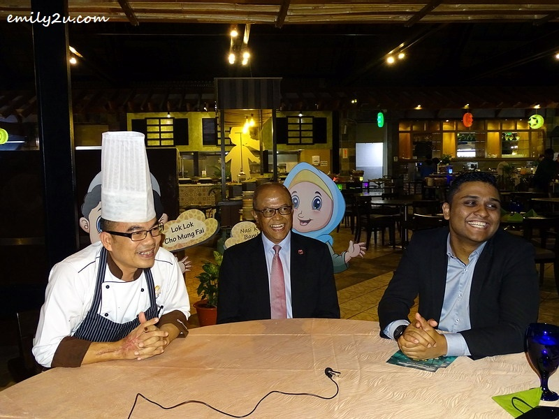 18. L-R: Sous Chef Ahmad Rosnie Mohd. Nor, General Manager Awana Hotel & Golf Course Isaaz Ishak Yunus along with Food & Beverage Manager Lawrence Paul