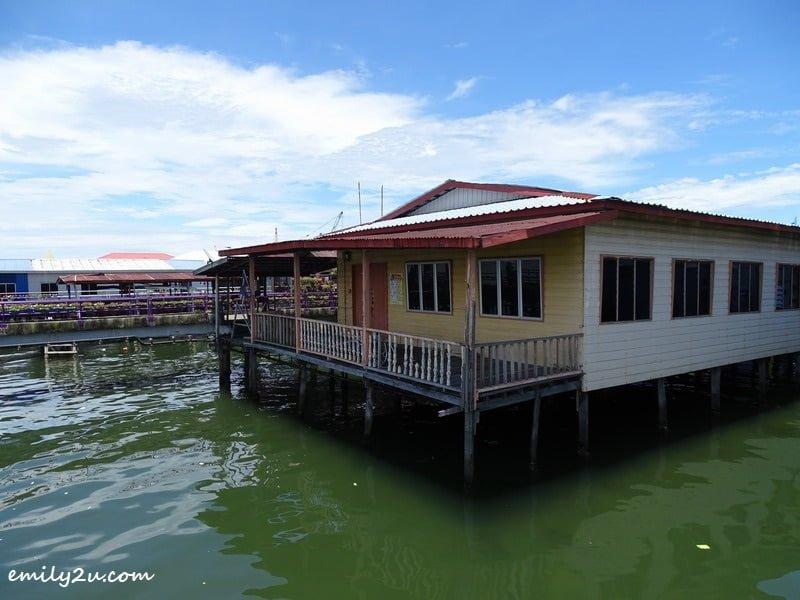 3. wooden houses on stilts