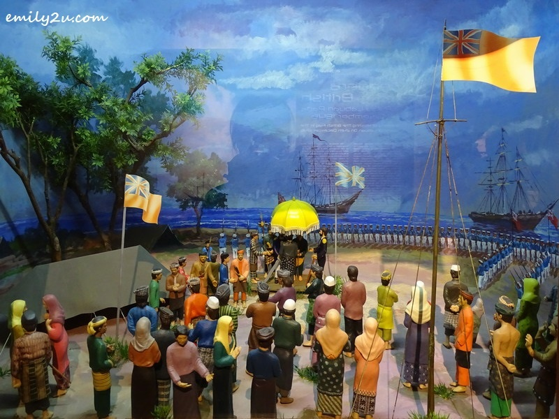 3. diorama of the ceremony of hoisting the British flag on Labuan Island on 24th Dec, 1846