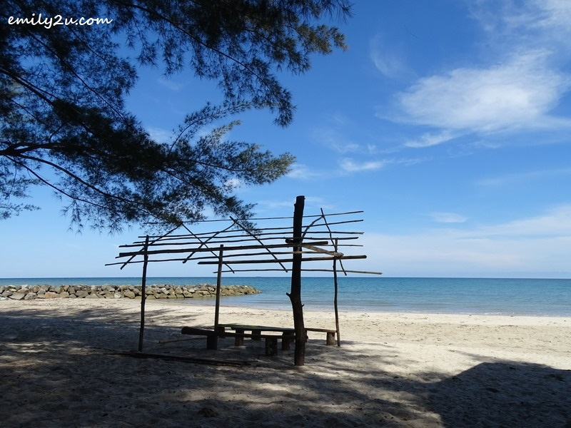 3. the beach of Kampung Layang-Layangan