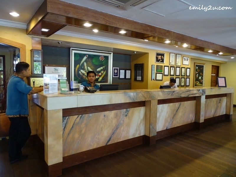 3. reception counter