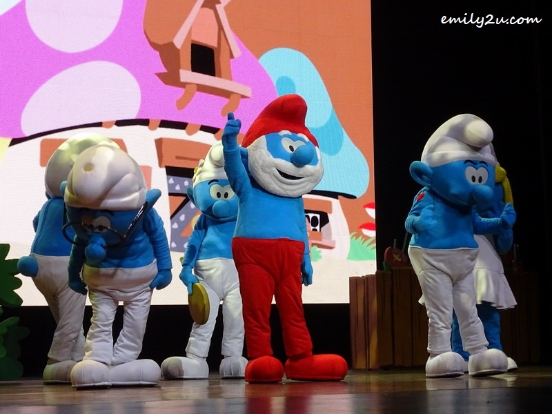 5. Papa Smurf and the rest of the little blue creatures