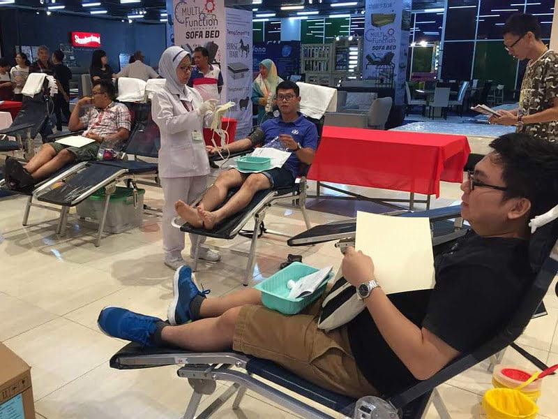 8. blood donation drive