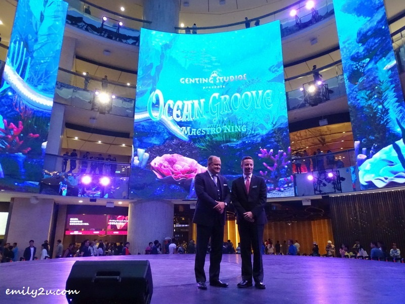 8. Regis Brown (L) and Brian Machamer (R) at the exclusive launch of the new SkySymphony Show, Ocean Groove with Maestro Ning