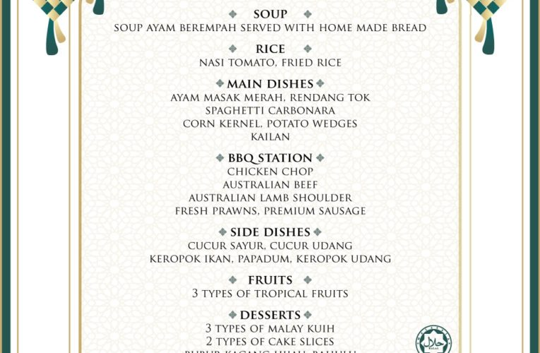 The Haven's Mouth-Watering Raya Buffet Menus