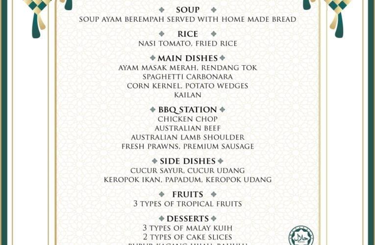 The Haven's Mouth-Watering Raya Buffet Menus