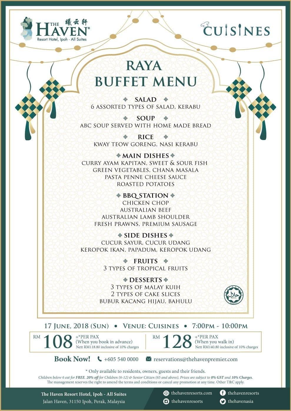 menu for Sunday, 17th June, 2018