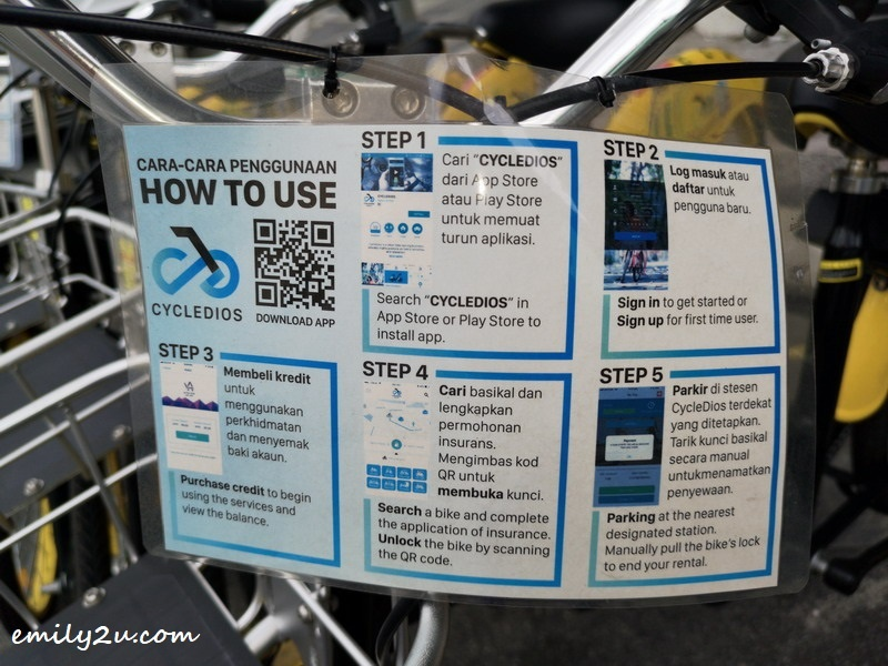 2. bike rental instructions