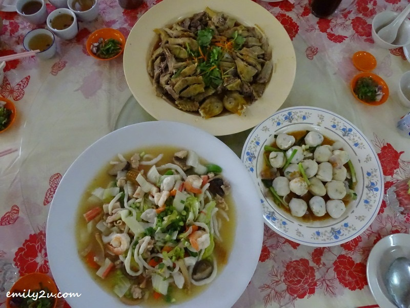 6. some of our lunch dishes at Fook Kee Air-Cond Restaurant, Sungai Siput (U)