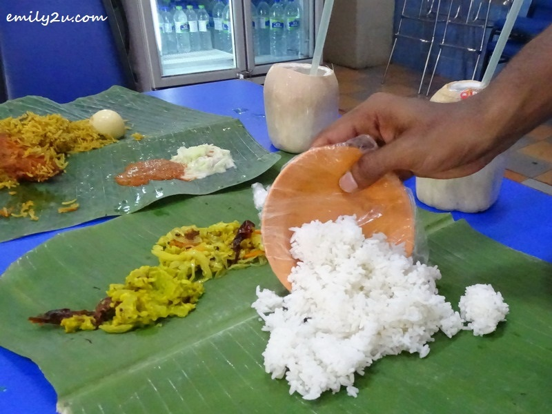 7. banana leaf rice