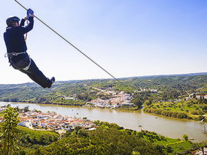 Spain to Portugal zipline