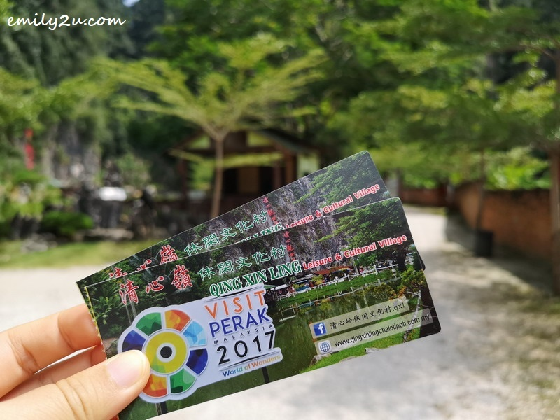1. tickets to Qing Xin Ling Leisure & Cultural Village