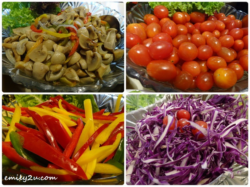 11. variety of fresh salads