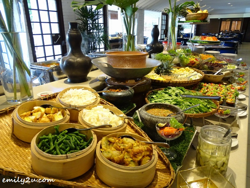 14. a generous array of buffet spread