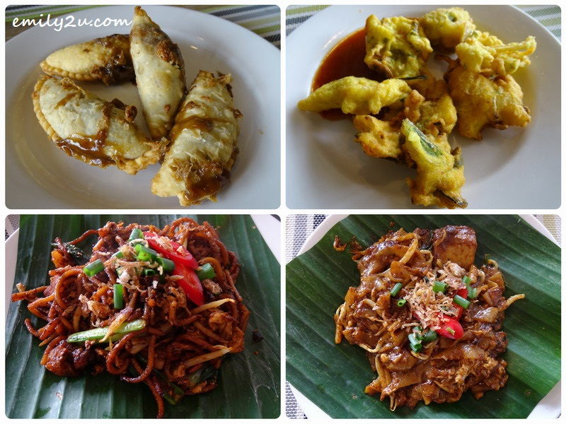 20. items from the action stalls (clockwise from top left): Dodol Puff, Cucur Udang, Kuey Teow Basah & Mee Goreng Mamak