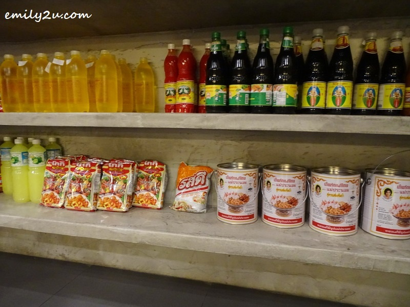 16. imported Thai noodles and sauces