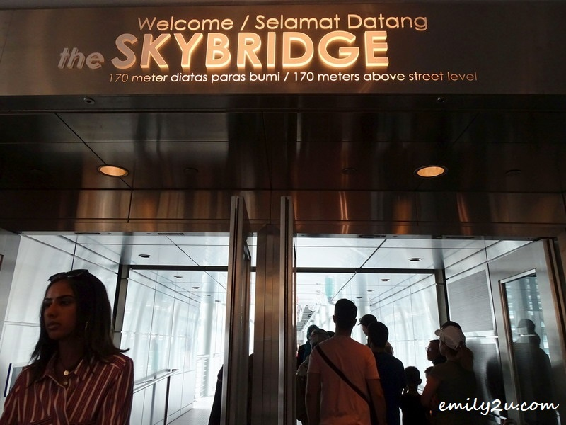 4. welcome to the SkyBridge, 170m above street level (at the 42nd floor)