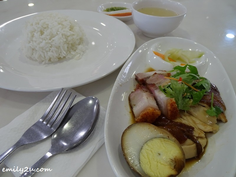 5. Soy Sauce Chicken + Roasted Pork Rice