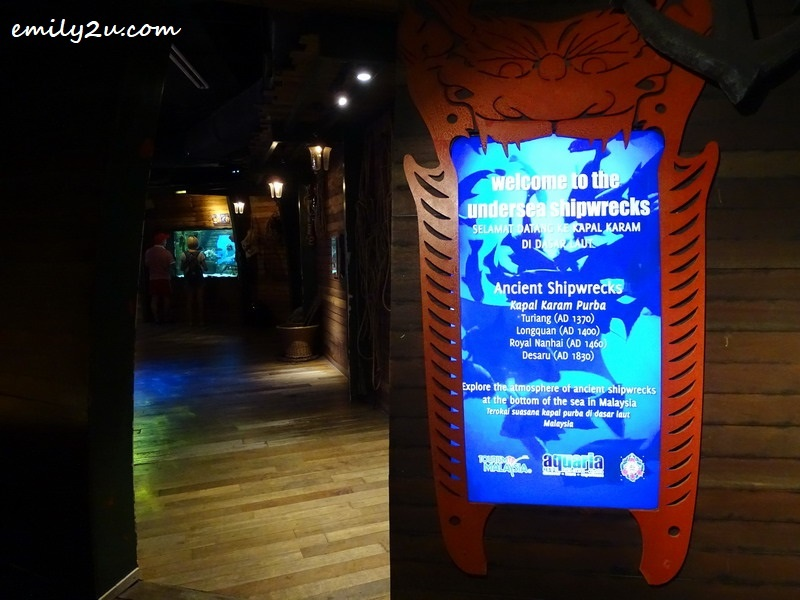 6. undersea shipwreck exhibits