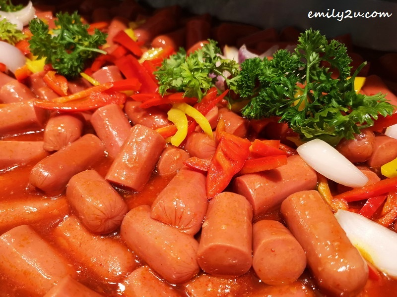 6. Sausage with BBQ sauc
