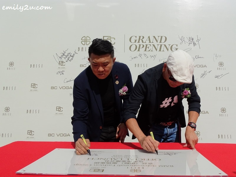 8. signing the plaque