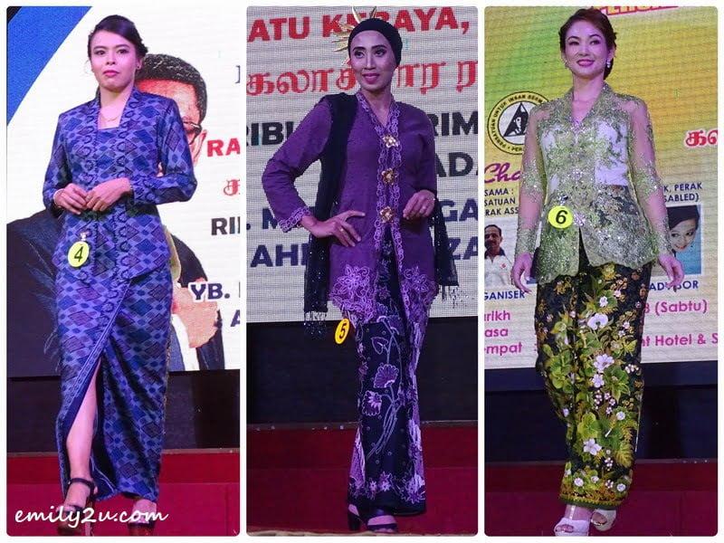 10. kebaya contestants (L-R): Ara Nazrah, Lenny & Lam Woon Nee